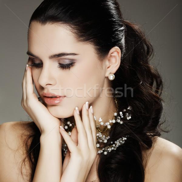 ストックフォト: 結婚式 · 装飾 · 少女 · 女性 · 髪 · 美