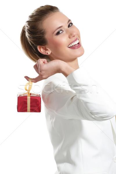 小さな 美人 ギフト 白 女性 手 ストックフォト © paolopagani