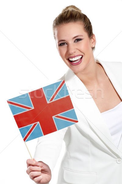 美人 国際 フラグ 白 女性 ストックフォト © paolopagani