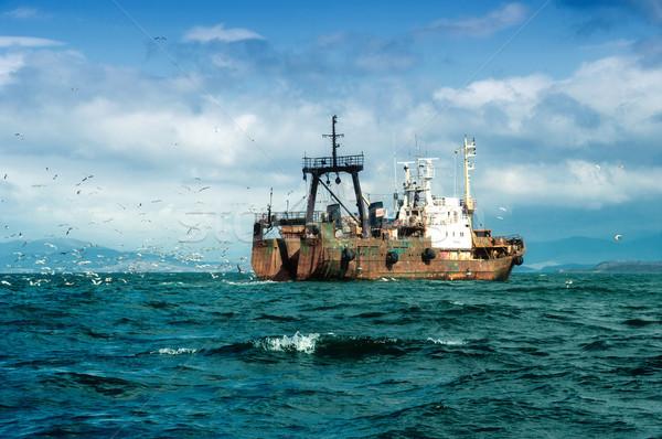 Połowów statku Japonia morza działalności wody Zdjęcia stock © papa1266