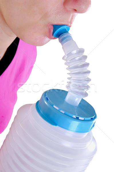 woman using inhaler Stock photo © papa1266