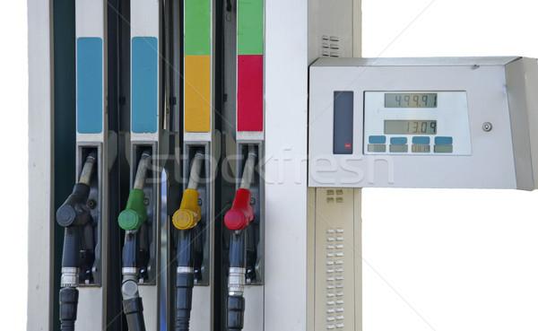 Benzin pompa doldurma iş el yeşil Stok fotoğraf © papa1266
