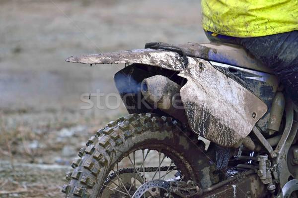 Werken motorfiets vuil motorcross weg Stockfoto © papa1266