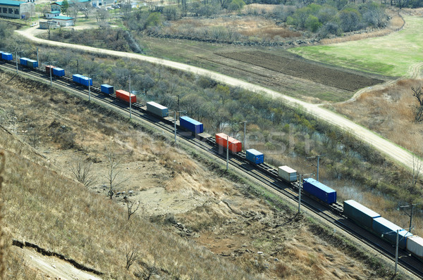 Freight train moving  Stock photo © papa1266