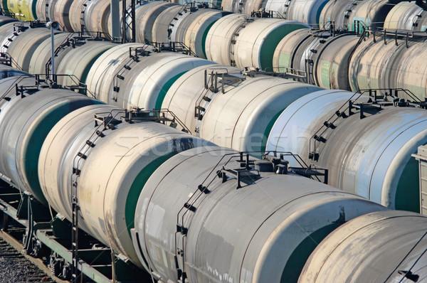Oil transportation in the railroad tank Stock photo © papa1266