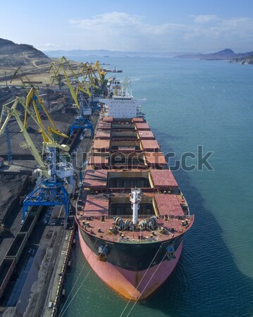 Vessel under loading Stock photo © papa1266