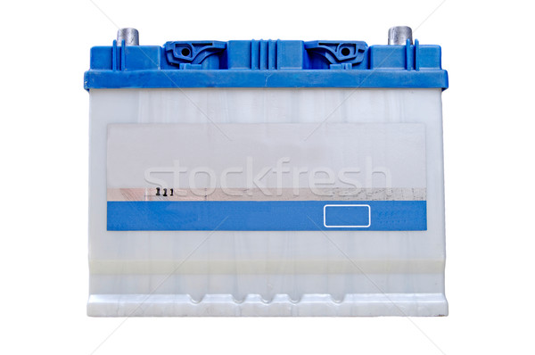 Blauw auto batterij geïsoleerd witte energie Stockfoto © papa1266
