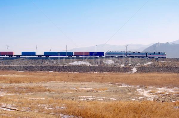 Stock fotó: Vonat · teher · üzlet · ipar · ipari · szállítás