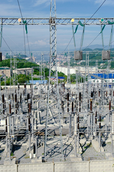 The Substation and  Power Transmission Lines. Stock photo © papa1266