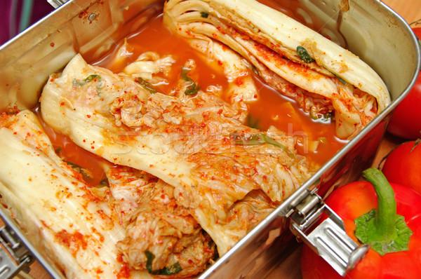 Radijs voedsel barbecue bijgerecht achtergrond witte Stockfoto © papa1266