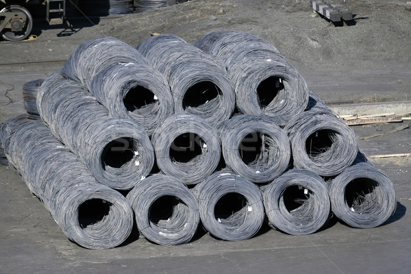 Group of steel coils  Stock photo © papa1266