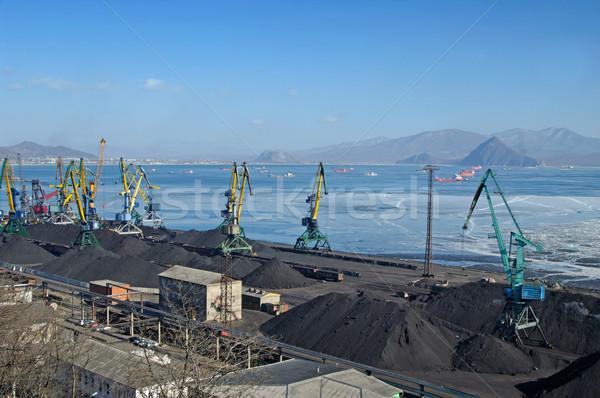 Liman kömür siyah güç teslim ağırlık Stok fotoğraf © papa1266