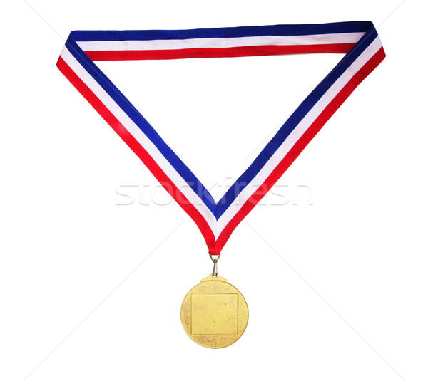 Blank gold medal Stock photo © papa1266