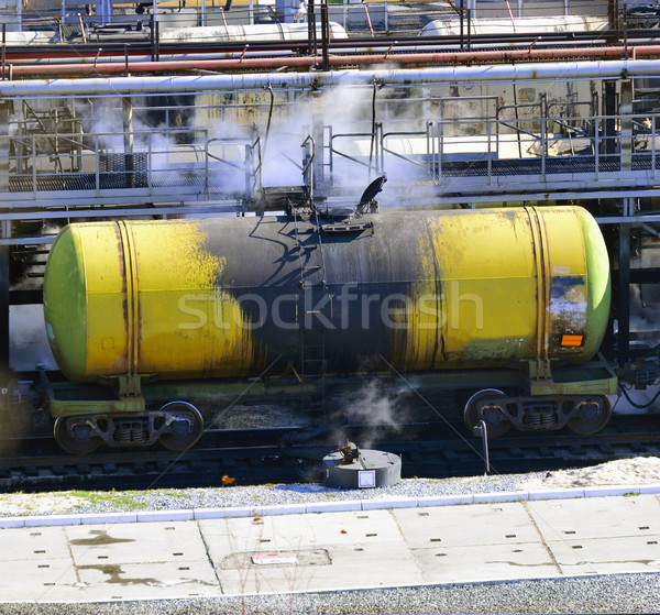 train transports tanks with oil and fuel Stock photo © papa1266