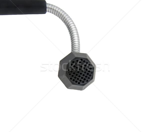 Microfoon geïsoleerd witte zwarte technologie kunst Stockfoto © papa1266