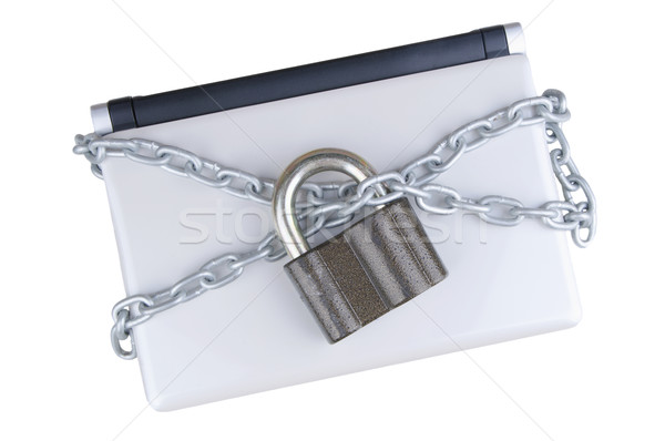locked laptop with chains , Stock photo © papa1266