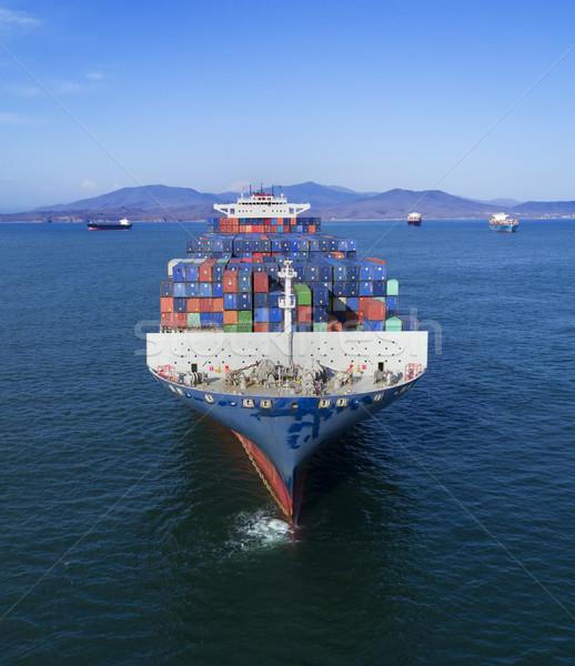 Business zee oceaan boot industriële Stockfoto © papa1266