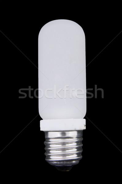 Halogène photo ampoule lampe isolé noir Photo stock © papa1266