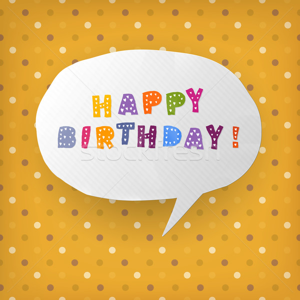 Happy birthday gift card template. Vector illustration, EPS10 Stock photo © pashabo