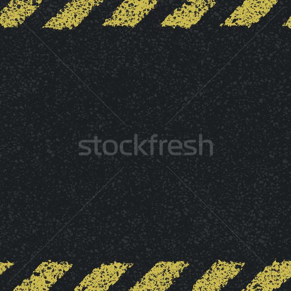 Hazard yellow lines background. Vector illustration, EPS8 Stock photo © pashabo