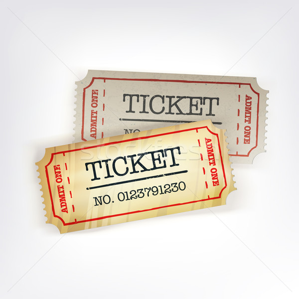 Two tickets. Vector illustration, EPS10 Stock photo © pashabo