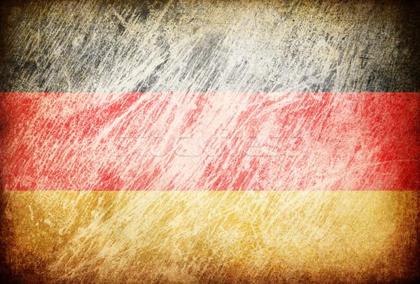 Foto stock: Grunge · bandeira · fundos · Alemanha · textura · digital
