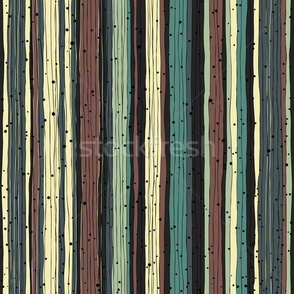 Abstract retro pattern. Seamless hand-drawn lines and dots vecto Stock photo © pashabo