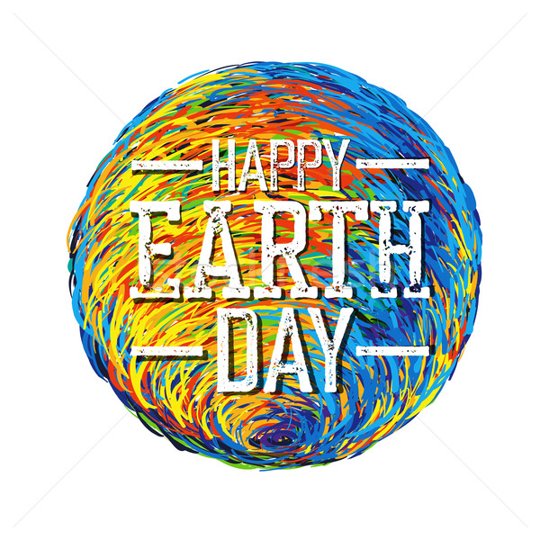 Earth Day Poster. Earth Illustration.  Earth illustration on whi Stock photo © pashabo