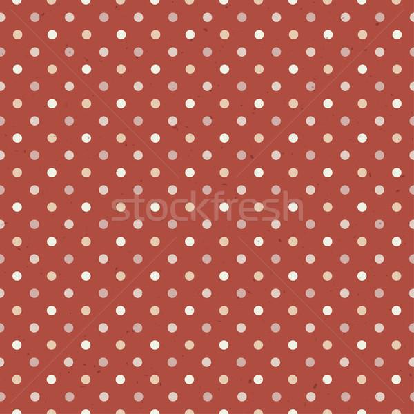Vintage Textured Polka Dot Seamless Pattern Stock photo © pashabo
