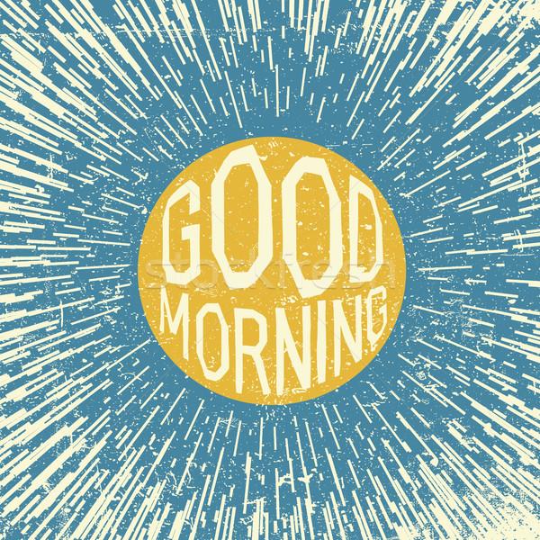Bonjour inspiré citer soleil symbole ciel bleu Photo stock © pashabo