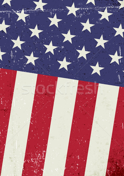 Stock photo: Grunge United States of America flag. Abstract patriotic backgro