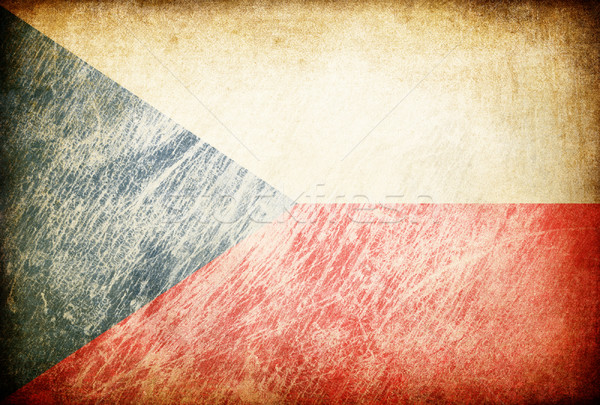 Grunge rubbed flag series of backgrounds. Czech Republic. Stock photo © pashabo