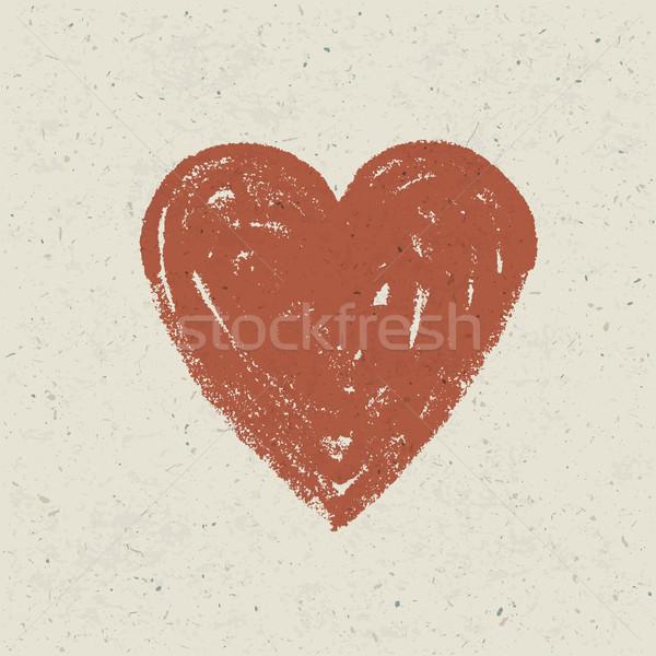 Foto stock: Corazón · textura · del · papel · vector · eps10 · papel · diseno