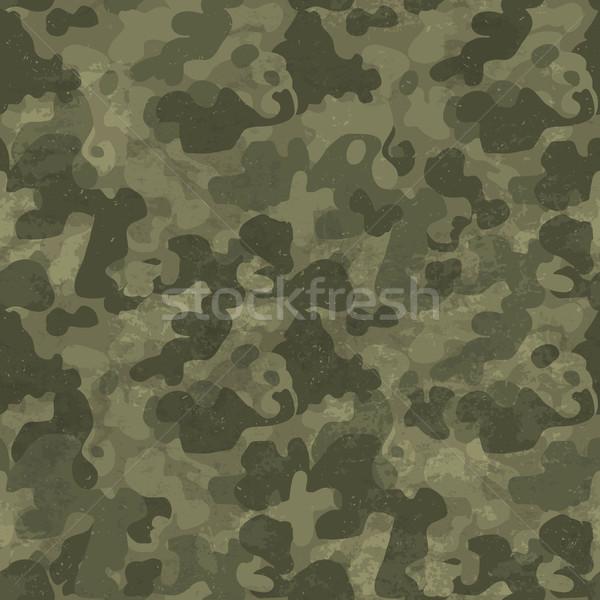 Katonaság álca végtelen minta grunge kopott négy Stock fotó © pashabo
