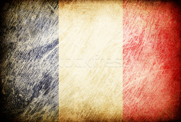 Grunge rubbed flag series of backgrounds. France. Stock photo © pashabo