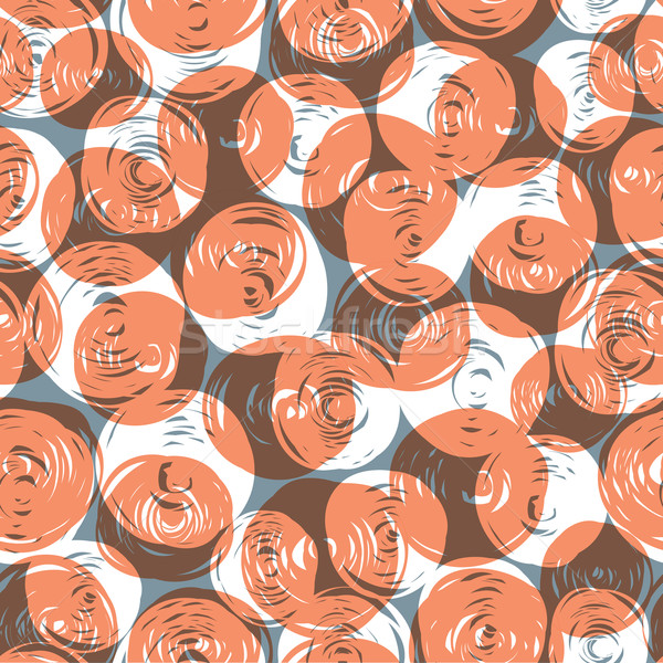 Abstract retro seamless pattern (balls doodles). Vector, EPS10 Stock photo © pashabo