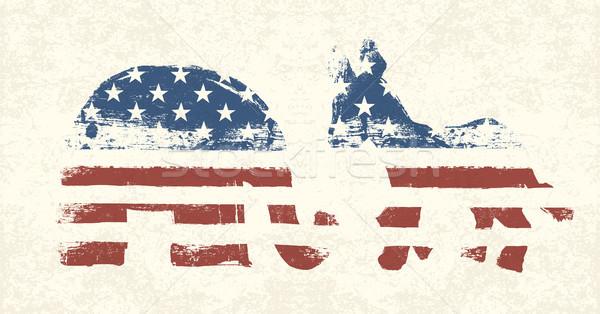 Democrático republicano político símbolos festa projeto Foto stock © pashabo