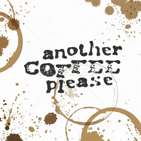 Outro café criador ilustração Foto stock © pashabo