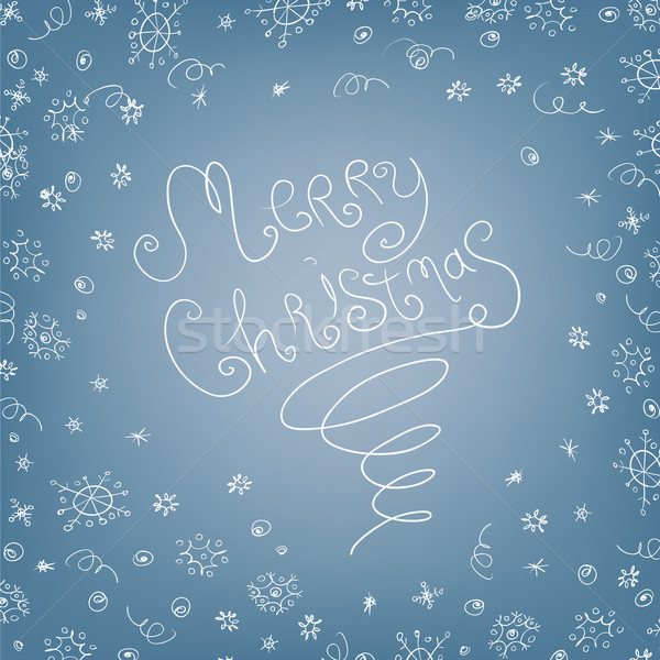 Handwritten quirky Merry Christmas background Stock photo © pashabo