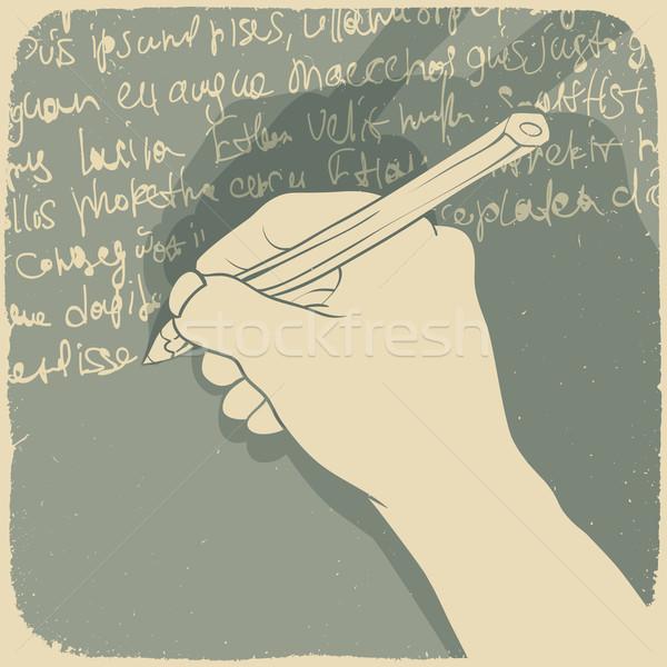 Mano escrito papel textura trabajo pluma Foto stock © pashabo