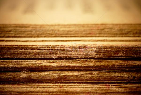 Opened Old Bible Pages, Macro. Stock photo © pashabo