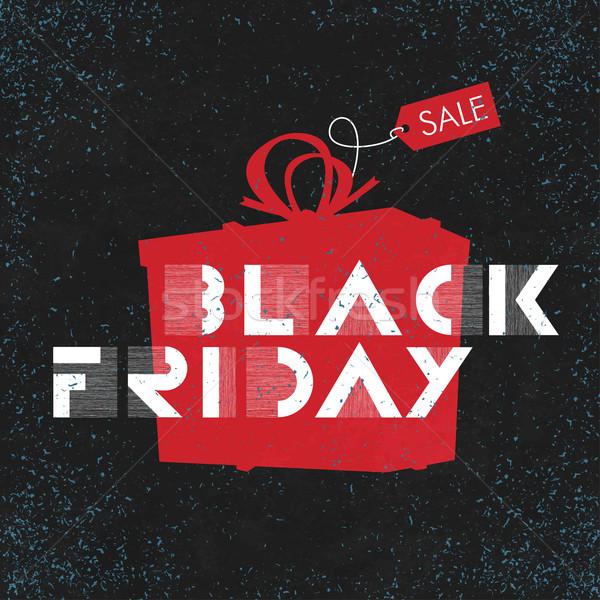Black friday verkoop reclame poster gemakkelijk ontwerp Stockfoto © pashabo