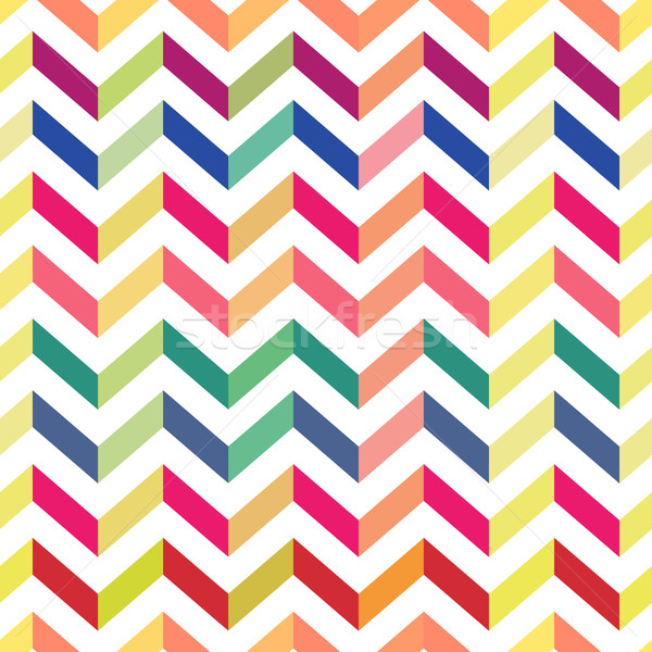 Seamless Colorful Chevron Pattern. Vector Stock photo © pashabo