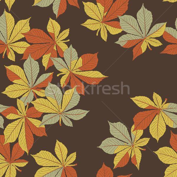 Châtaigne laisse automne orange nature Photo stock © pashabo
