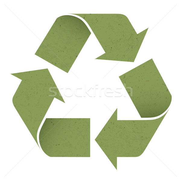 Green reuse symbol, isolated on white. Vector, EPS10 Stock photo © pashabo