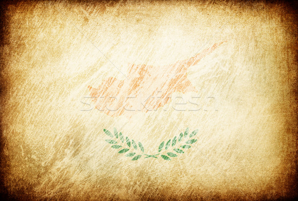 Grunge rubbed flag series of backgrounds. Cyprus. Stock photo © pashabo