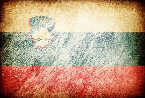 Grunge rubbed flag series of backgrounds. Slovenia. Stock photo © pashabo