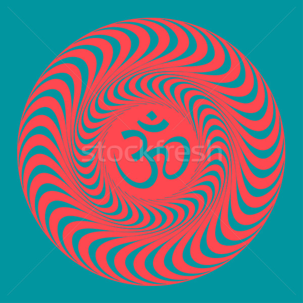 Om symbol illustration. Vector Stock photo © pashabo