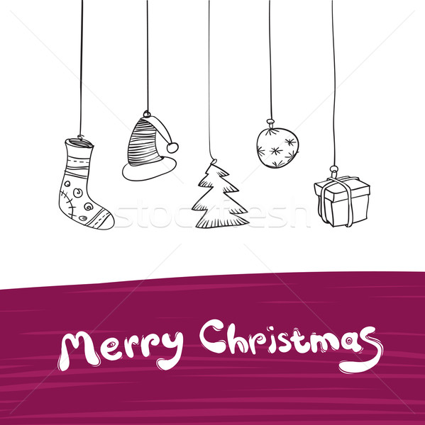 Alegre Navidad regalos ilustración vector eps8 Foto stock © pashabo
