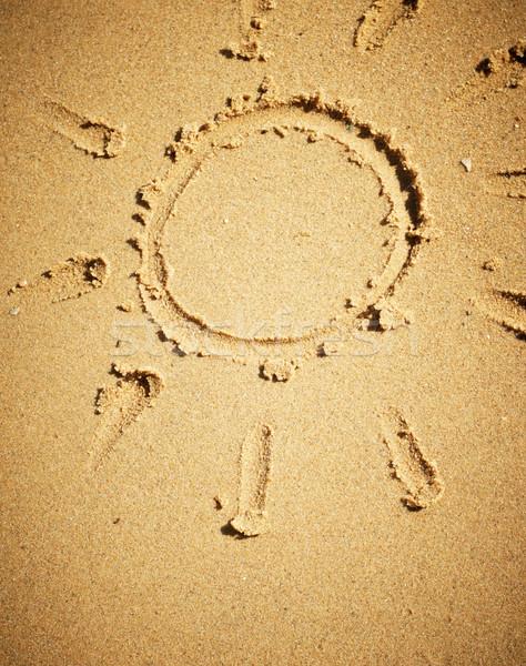 Zon zand strand ontwerp zomer Stockfoto © pashabo